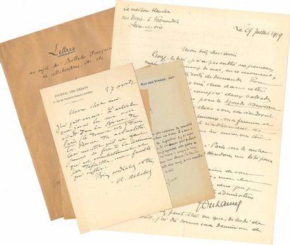 [Paul FORT]. 34 L.A.S. et 2 manuscrits autographes...