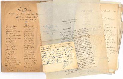 [Paul FORT]. Environ 130 lettres, la plupart...