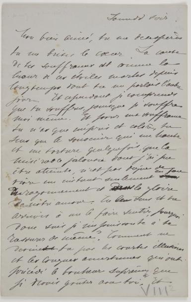 [Anatole FRANCE]. Léontine Lippmann, Mme...
