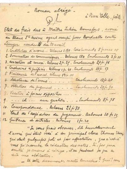 Max JACOB (1876-1944). Manuscrit autographe...