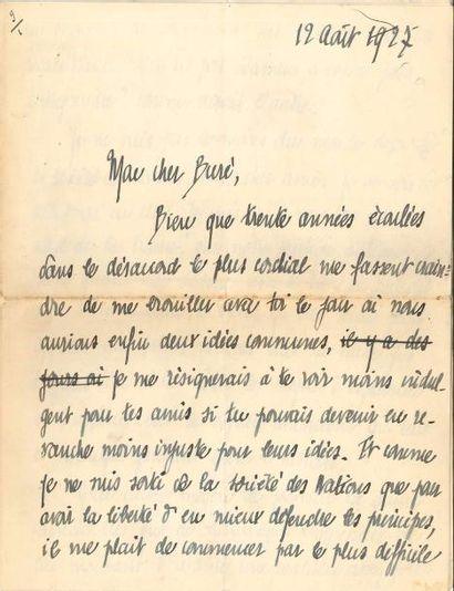 Henry de JOUVENEL (1876-1935) homme politique...