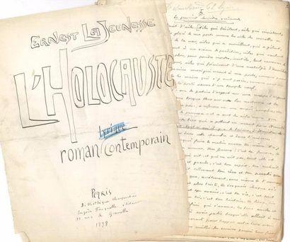 Ernest LA JEUNESSE (1874-1917). Manuscrit...