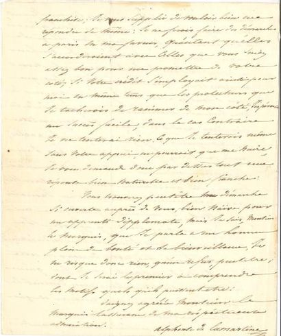 Alphonse de LAMARTINE (1790-1869). L.A.S.,...