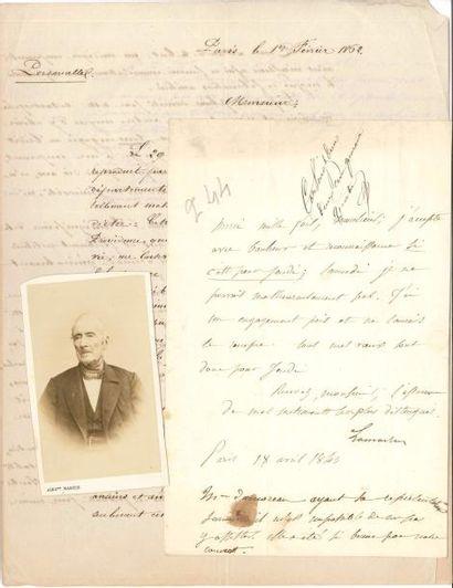 Alphonse de LAMARTINE. L.S. avec post-scriptum...
