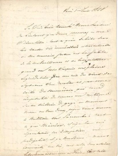 Alphonse de LAMARTINE. L.A.S., Paris 1er...
