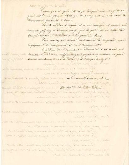 Alphonse de LAMARTINE. L.S., Paris 23 avril...
