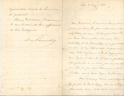 Alphonse de LAMARTINE. L.S., Paris 8 janvier...