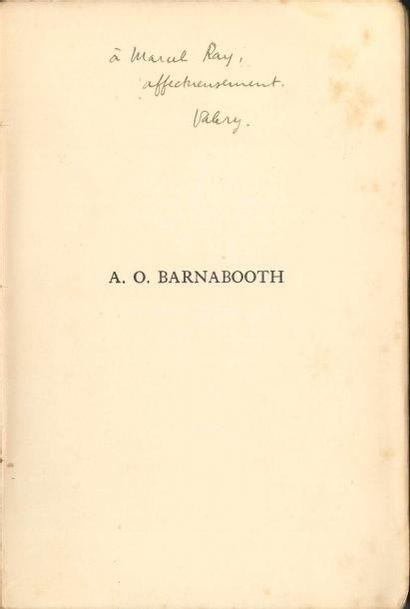 Valery LARBAUD. 4 volumes brochés, avec dédicaces...