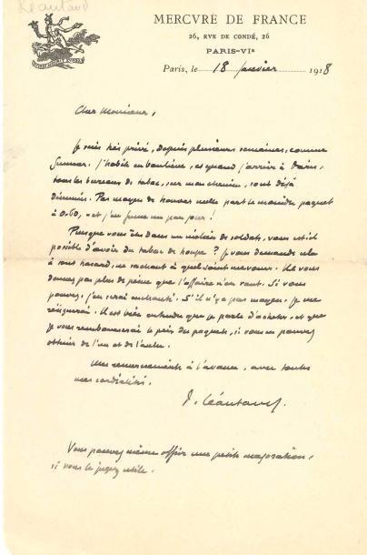 Paul LÉAUTAUD (1872-1956). 3 L.A.S., Paris...