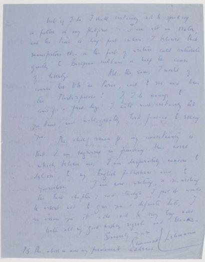 Rosamond LEHMANN (1901-1990) romancière anglaise....