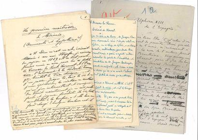 MANUSCRITS. 18 manuscrits autographes signés...