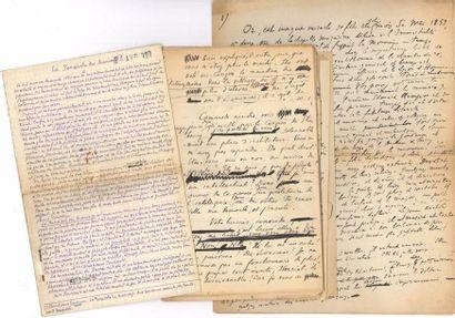 MANUSCRITS. 28 manuscrits autographes signés...
