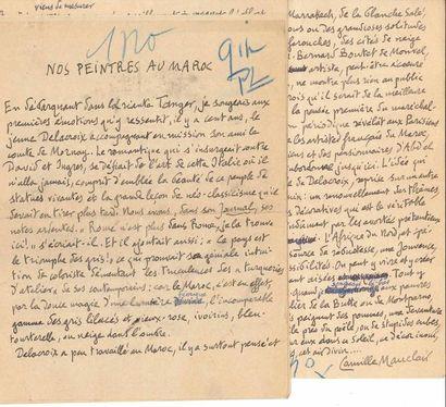 Camille MAUCLAIR (1872-1945). 6 manuscrits...