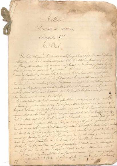 Élisa MERCŒUR (1809-1835). Manuscrit autographe,...