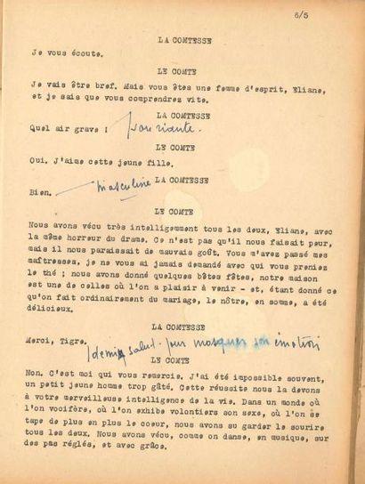 """Jean ANOUILH. La Répétition ou """"l'Amour puni"""",..."""