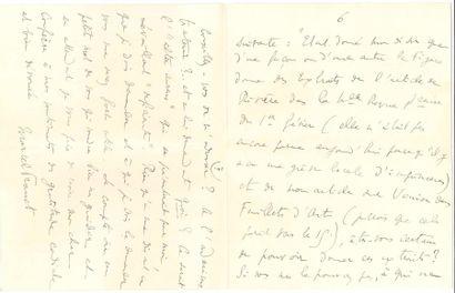 Marcel PROUST. L.A.S., Lundi [9 février 1920],...