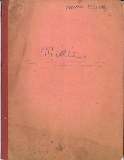"""Jean ANOUILH. La Répétition ou """"l'Amour puni"""", comédie en cinq actes, [1950]; dactylogramme..."""