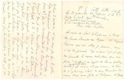 Marcel PROUST. L.A.S., Dimanche [21 et 25...
