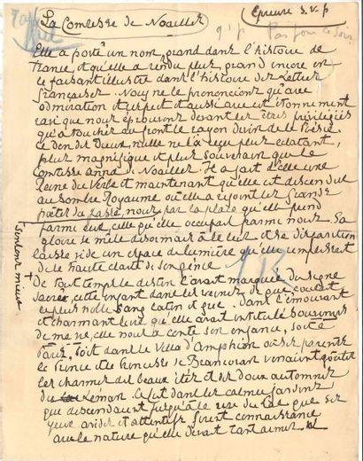 Henri de RÉGNIER (1864-1936). Manuscrit autographe...
