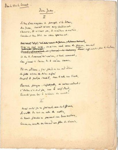 Édouard ROD. 2 manuscrits autographes signés...