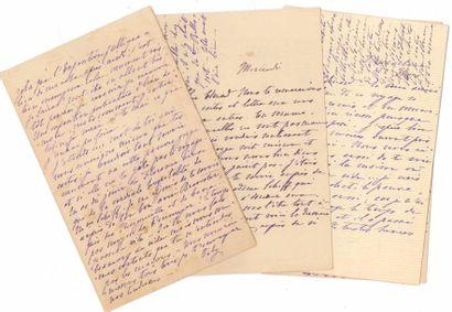 [Édouard ROD]. 68 L.A.S. de sa femme Valentine...