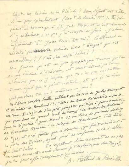 André ROLLAND DE RENÉVILLE (1903-1962) poète...