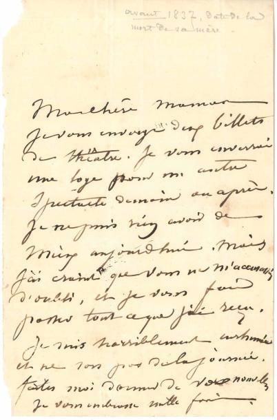 George SAND (1804-1876). L.A., [Paris janvier...