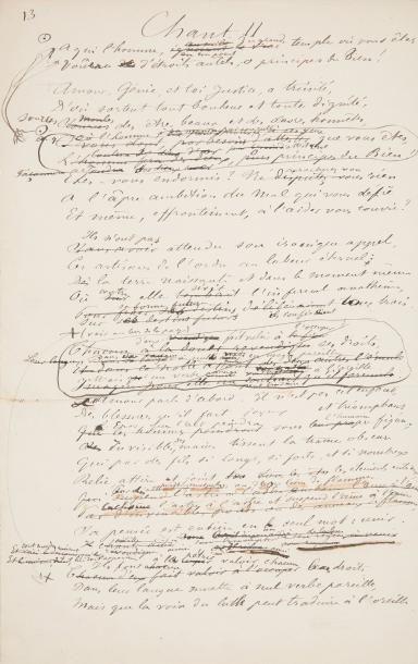 SULLY-PRUDHOMME (1839-1907). Poème autographe,...