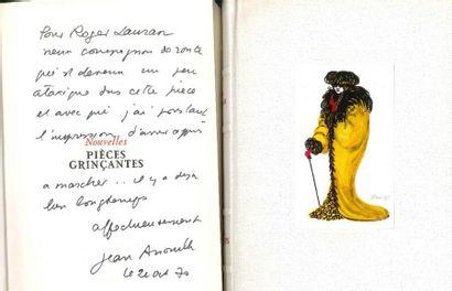 Jean ANOUILH. 4 volumes avec dédicaces autographes...