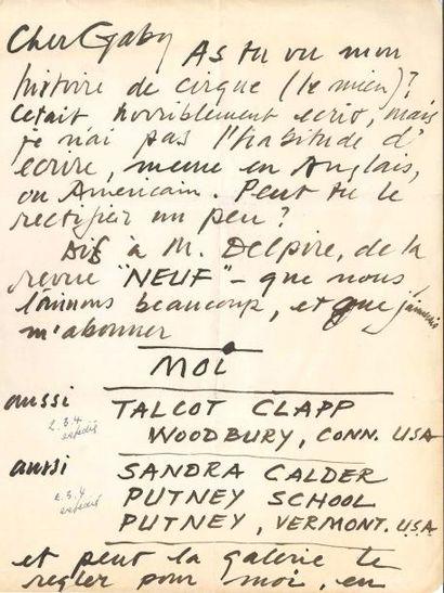 Alexander CALDER (1898-1976). L.A. (la fin...