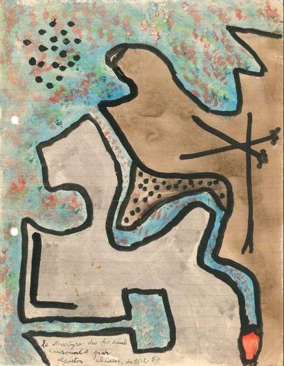 Gaston CHAISSAC. L.A.S. avec 2 poèmes autographes...