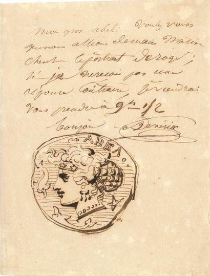 Achille DEVÉRIA (1800-1857). L.A.S. avec...