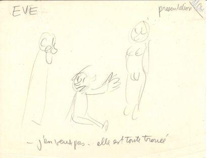 Jean EFFEL (1908-1982). 8 dessins originaux...