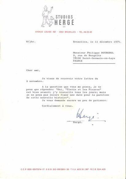 Georges Rémi, dit HERGÉ (1907-1983). L.S.,...