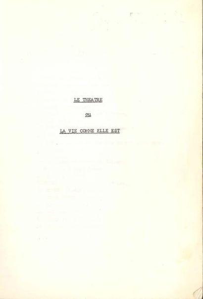 Jean ANOUILH. Tapuscrit, Le Théâtre ou La...