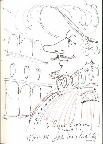 Jean-Denis MALCLÈS. Dessin original signé...