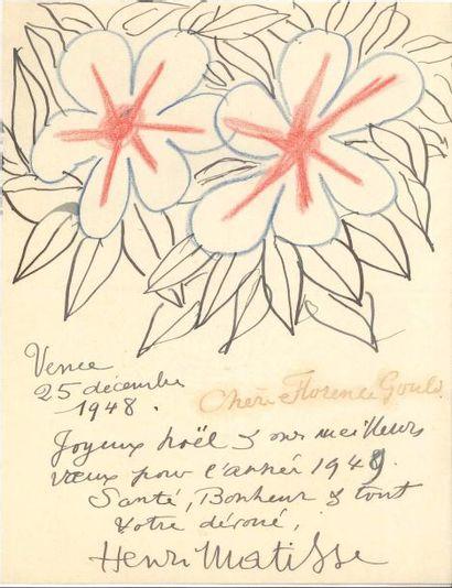 Henri MATISSE (1869-1954). L.A.S avec dessin,...