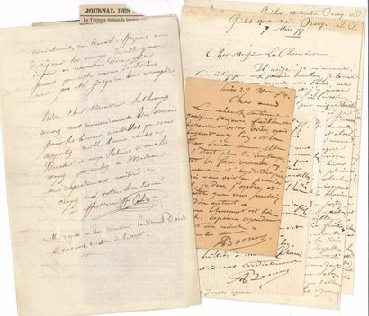 PEINTRES. 11 L.A.S et 1 P.S., 1871-1902,...