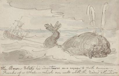 Thomas ROWLANDSON (1756-1827). Dessin original...