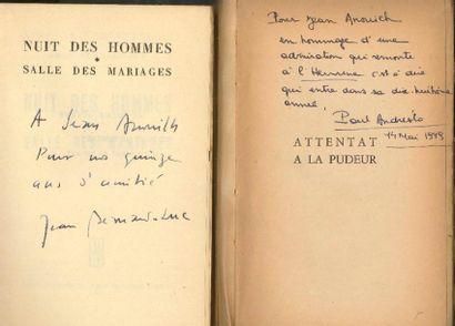 [Jean ANOUILH]. 27 livres dédicacés à Jean...