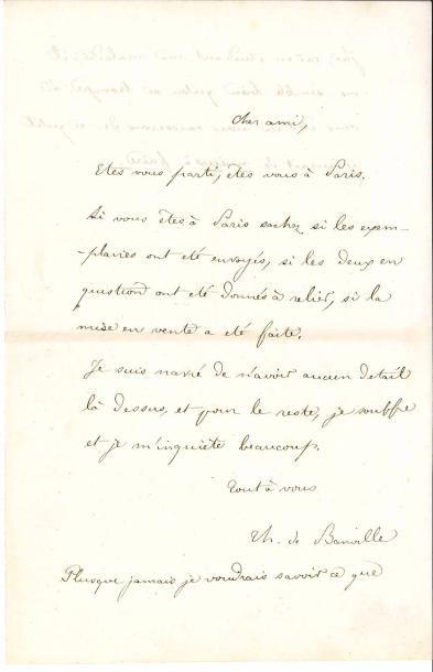 Théodore de BANVILLE (1823-1891). 5 L.A.S.,...