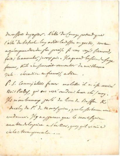 Jean Le Rond d'ALEMBERT (1717-1783). L.A., [fin janvier ou début février 1751] à...