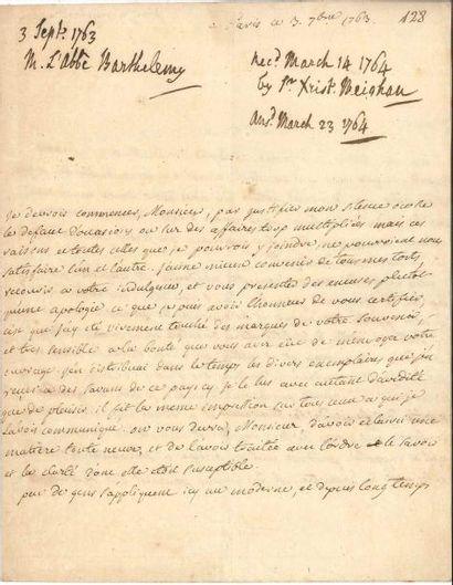 Jean-Jacques BARTHÉLEMY (1716-1795) érudit...