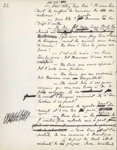 René BENJAMIN (1885-1948). Manuscrit autographe...
