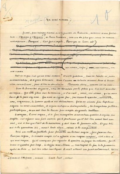 Pierre BENOIT (1886-1962). Manuscrit autographe...