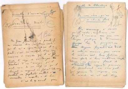 Henri BÉRAUD (1885-1958). 4 manuscrits autographes...