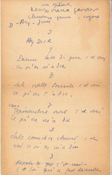 Jean ANOUILH. Manuscrit autographe, Un speech,...