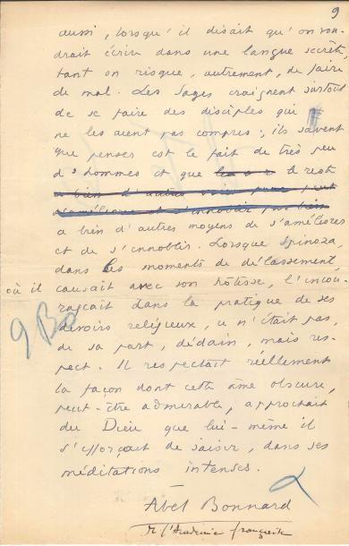 Abel BONNARD (1883-1968) écrivain, ministre...