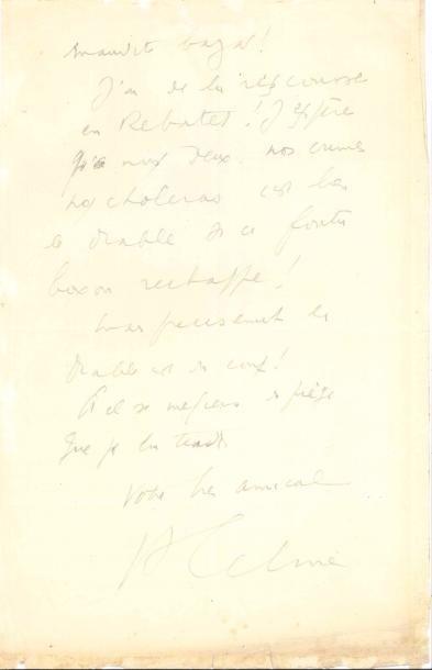 Louis-Ferdinand CÉLINE (1894-1961). L.A.S.,...