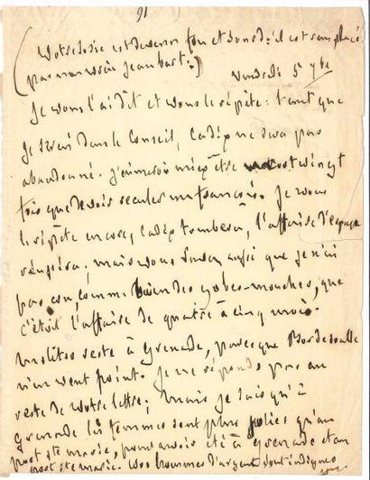 François-René de CHATEAUBRIAND. 3 L.A. (la...